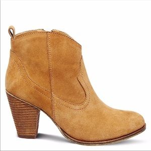 steve madden plover heeled bootie - brown/tan